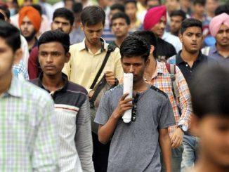 Students after NDA Exam at PGGCG-11