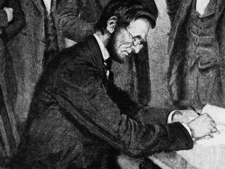 Abraham Lincoln Signs Emancipation Proclamation 1963